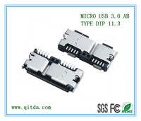 MICRO USB 3.0 AB TYPE DIP 11.3 QTD-MCUSB-AB-J3111
