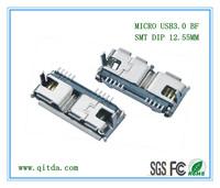 MICRO USB 3.0 BF SMT 外壳DIP QTD-MCUSB-BF-J3113