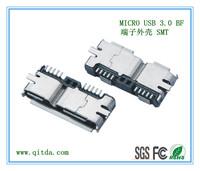 MICRO USB 3.0 BF 端子外壳 SMT QTD-MCUSB-BF-J3110