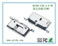 MICRO USB 3.0 BF 直立式端子SMT QTD-MCUSB-BF-J3118