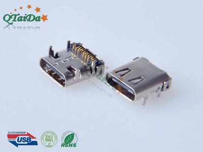 (USB C TYPE 3.1 母座双排贴片(有柱)