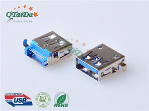 沉板母座USB 3.0 AF 沉板 SMT 方脚 无卷边
