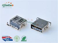 USB 3.0 AF RVS4,L12.5,H1.36 DIP 短体沉板式