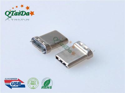 USB CM 3.1Type-C拉伸式焊杯短弯端