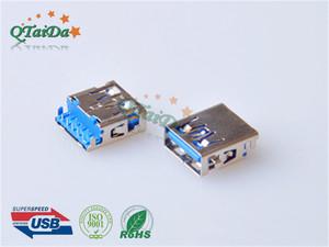 USB3.0 AF短体沉板CL-0.75mm H2.11 L14.2mm usb3.0短体沉板式