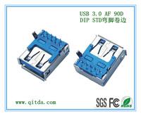 USB 3.0 AF 90D DIP STD QTDU3F002D