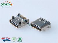 USB C TYPE 3.1 母座双排沉板0.8 SMT