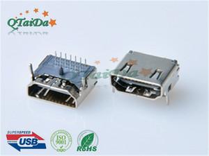 HDMI AF DIP三排针两脚短塑胶